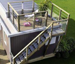 Rental mobile home in campsite near etretat
